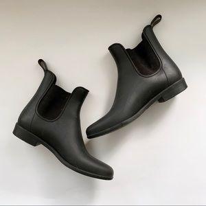 J. Crew Black Chelsea Boots